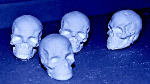 50 Miniature Skull Reactive Shooting Targets chalk air rifle BB pistol airsoft