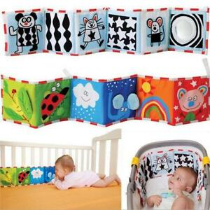 Baby Crib Bumper Bed Protector Kids Cloth Cognize Educational Book Picture Toy S