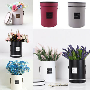 Cajas-de-flores-ramo-de-tipo-de-mano-redonda-Living-jarrones-floristeria-Flor-Planta-Cajas