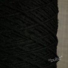 SOFT ALPACA WOOL BLEND YARN ARAN / DK 500g CONE 10 BALLS BLACK DOUBLE KNITTING