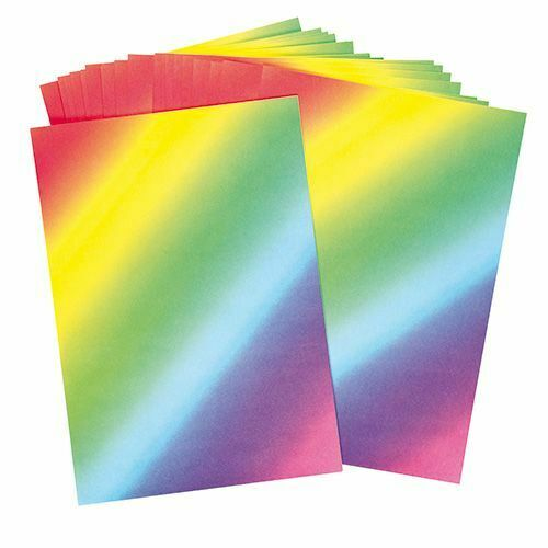 10 x A4 Sheets of Rainbow Paper Making Multi Colour Scrapbooking 80gsm