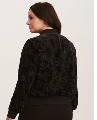 Velvet forseglet 2 Black 20 Plus Jacket 18 Nwt Kvinders Torrid Burnout Bomber Pn5zd0Pwq