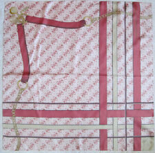 -Superbe Foulard GUESS   soie  TBEG  vintage scarf  87 x 87 cm