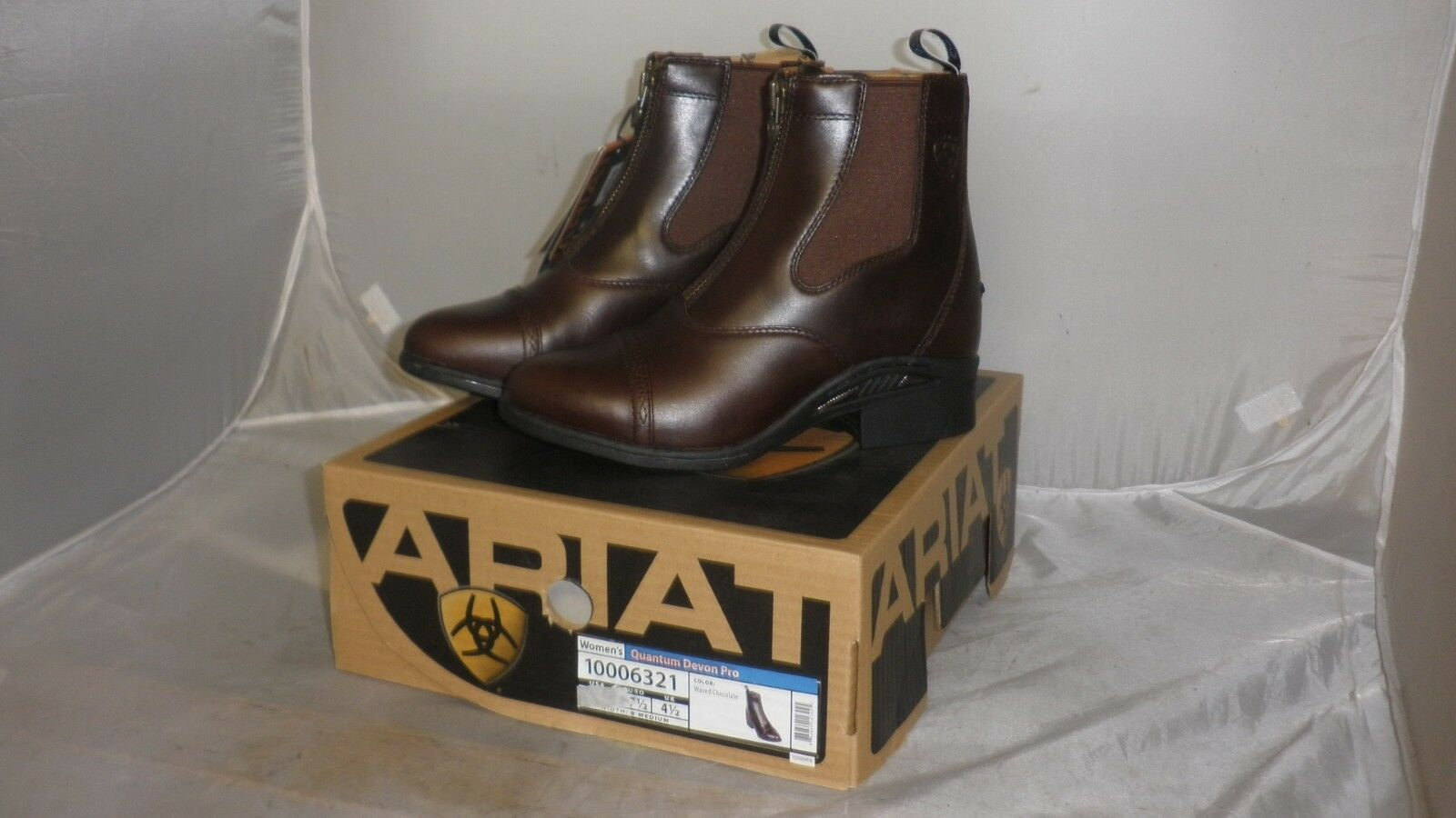 Women's Ariat Quantum Devon Pro Jodhpur Boots - Waxed  Chocolate  60% off