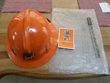 Msa Hard Hat Topgard Mine Safety Syracuse Orange Adjusts Light Lamp Bracket New