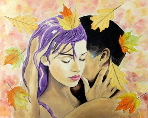 """Giclee on Canvas16/""""x20/"""" LTD by Yelena Berzon Autumn/'s Rebus Painting Art"""