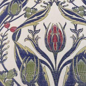 Cortina-de-cardo-azul-del-telar-jacquar-Merton-Tela-De-Tapiceria-Craft