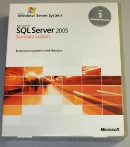 Microsoft SQL Server 2005 Standard Edition - 5 Cal, Deutsch, 32 Bit  - 228-03933
