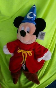 """Walt Disney Plush Mickey Mouse Wizard Plush New With Tags approx 13"""""""