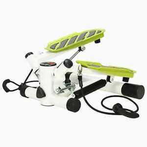 vidaXL-Swing-Stepper-with-Resistance-Cords-White-and-Green-Gym-Stair-Machine