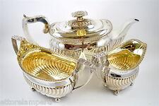anno 1818 LONDRA antico set 3 pezzi teiera zuccheriera e lattiera in argento