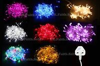 New 10M/100 Bulbs UK Plug Christmas Tree Party Wedding LED String Fairy Light