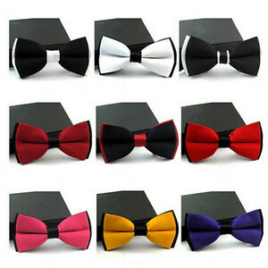 NEW-FASHION-MENS-ADJUSTABLE-POLYESTER-WEDDING-PROM-PARTY-BOW-TIE