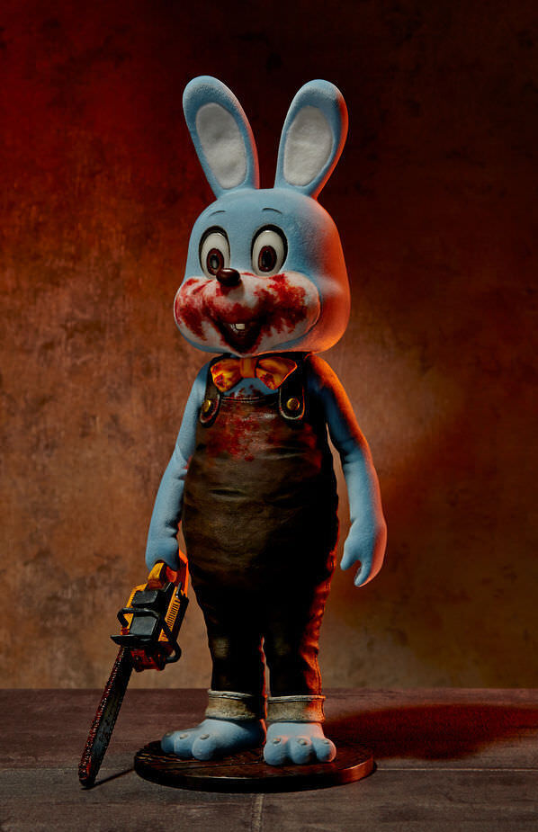 Silent Hill Robbie the Rabbit 1/6 Scale Figure Statue Blau Gecco Konami
