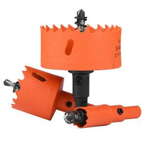Bi Metal Hole Saw 16 - 250mm HSS Drill Bit Arbor Pilot Metal Wood Plasitc Cutter