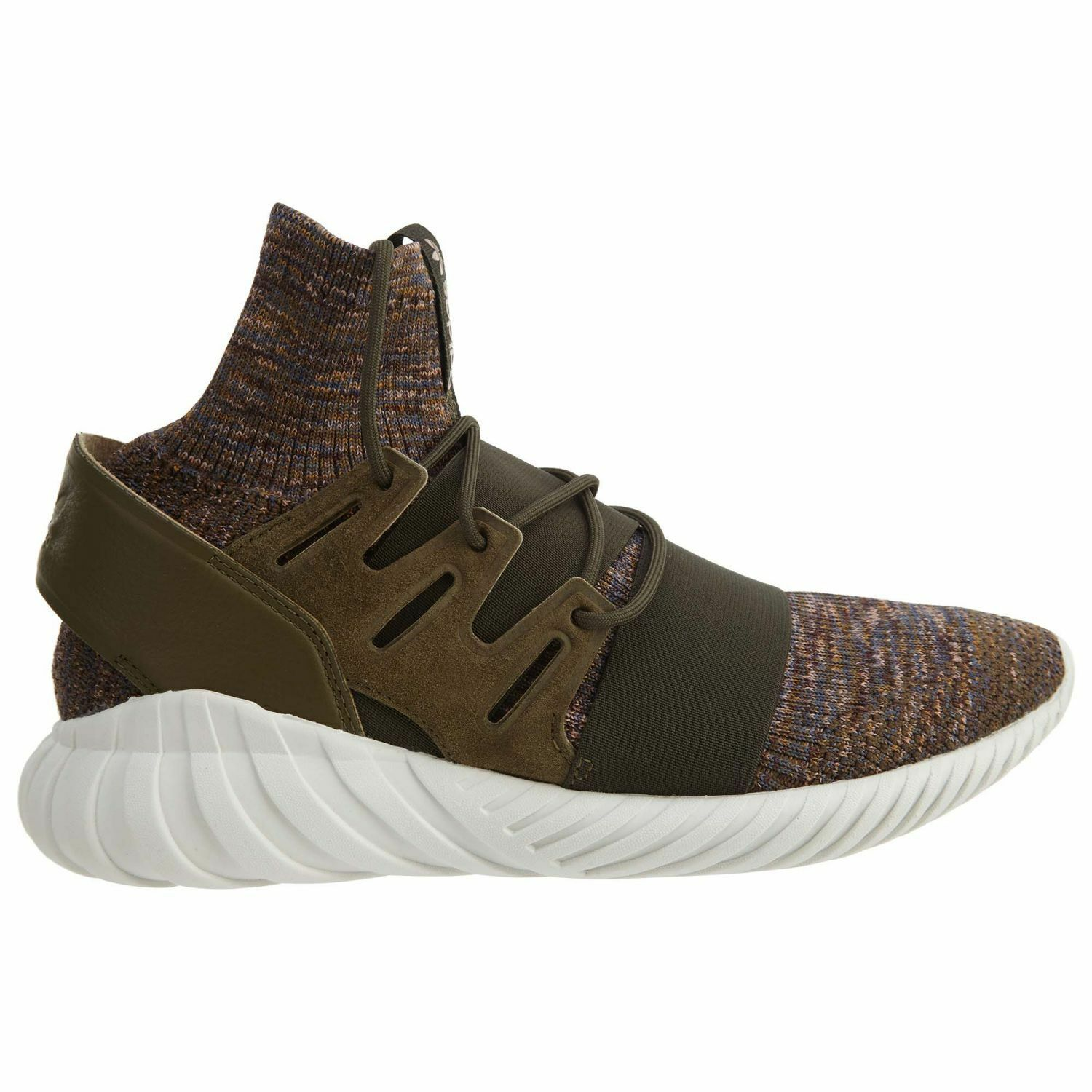 Adidas Tubular Doom PK Mens BY3551 Trace Olive Brown Primeknit Shoes Comfortable