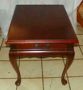 Solid Cherry Mersman End Table Side Table with Drawer RPT217 eBay