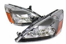 03-07 Honda Accord 2/4 Door JDM Black Headlights w/Amber Reflector Inspire City