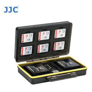 new product 47692 fd63c Details about JJC BC-3LPE6 Battery Case holds 2 of Canon LP-E6 E6N Battery  & 6 Sd card holder