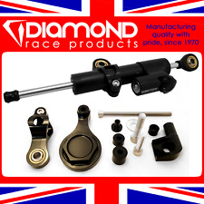 Amortiguador de dirección Diamante de gas a presión incl. Kit de montaje para 2006 06 Yamaha R6