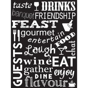 Drink-Food-Wine-Kitchen-Words-Black-Quote-Unframed-Wall-Art-Poster