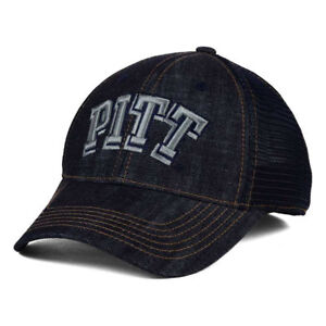 new concept be41b f790c Image is loading Pittsburgh-Panthers-NCAA-Sturdy-Denim-Mesh-Cap-Hat-
