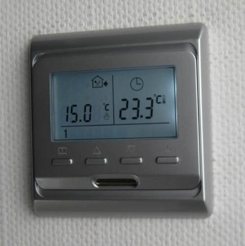 Digital Thermostat programmable Argent 16 A #888
