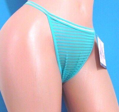 B4 CAPRICIA O/'DARE Brown Blue Floral sheer shiny thong sissy bikini panties 6 7