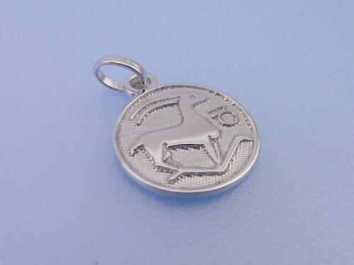 925 Sterling Silber Sternzeichen Anhänger rund rhodiniert  Astrologie  Horoskop