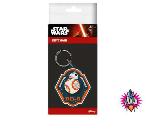 OFFICIAL STAR WARS RUBBER KEYRING KEYCHAIN THE FORCE AWAKENS KEY RINGS