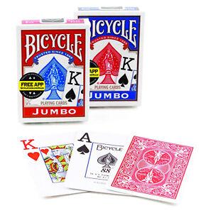 4 NEW DECKS BICYCLE POKER JUMBO INDEX PLAYING CARDS
