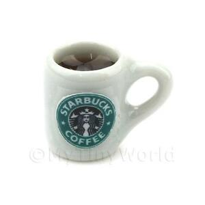 Dolls-House-Miniature-Handmade-Mug-Of-Coffee-White-Ceramic