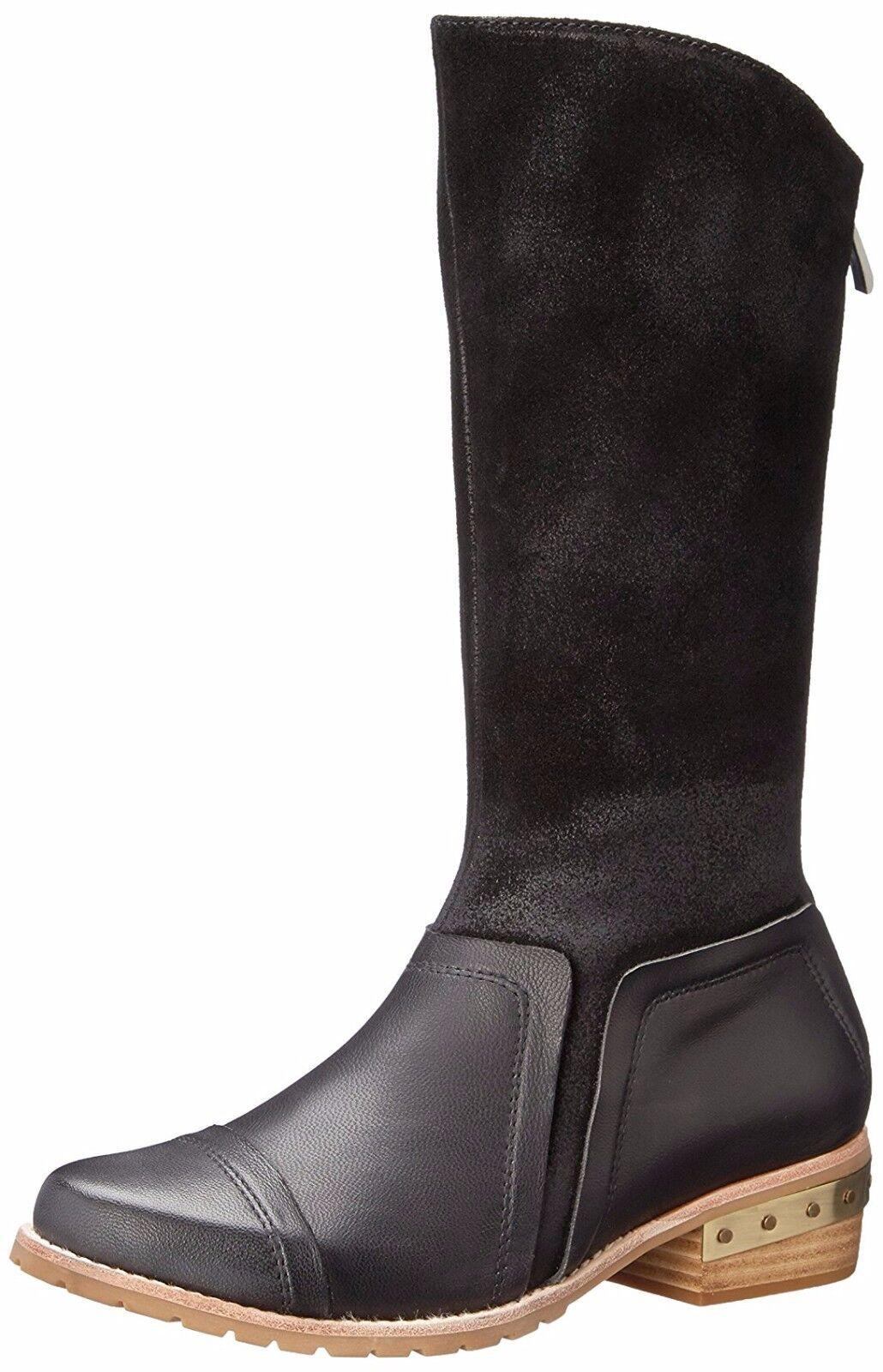 ANTELOPE SHOES RUFF BOOTIES 475 MID CALF CLOG CLOG CLOG BOOTS BLACK BACK ZIP 7.5  279 7d8b50
