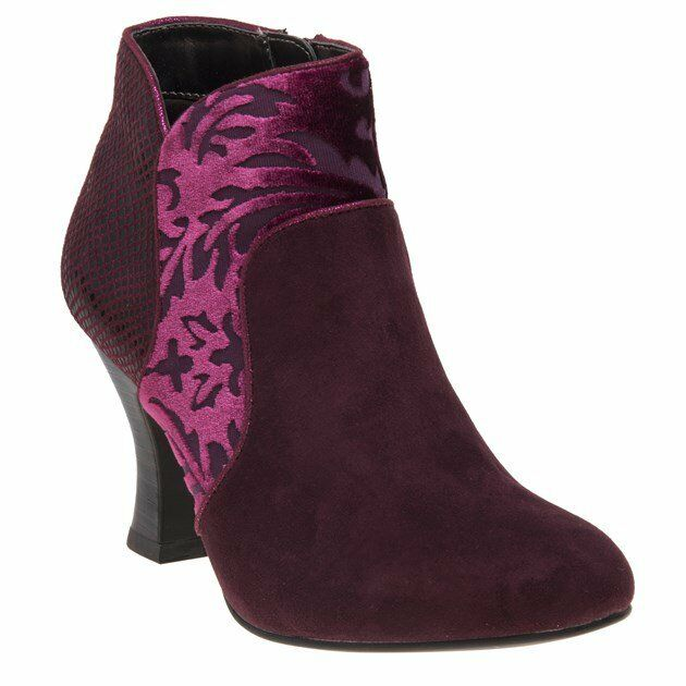 New Womens Ruby Ruby Womens Shoo Maroon Red Kennedy Microfibre Boots Ankle Zip 3d8ff7
