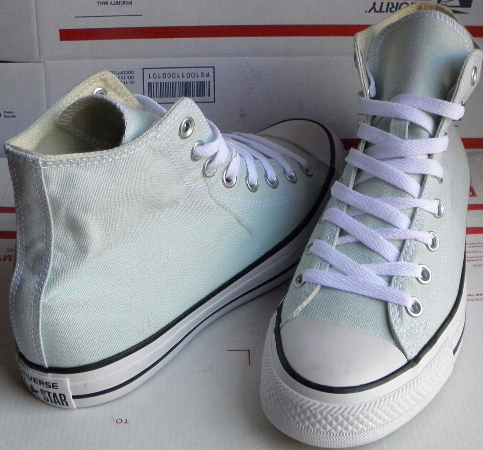(NEW)CONVERSE Chuck Taylor All Star HI Sz Shoes Polar Blue 153865F Sz HI Men 8/Wo 10! a0a70d