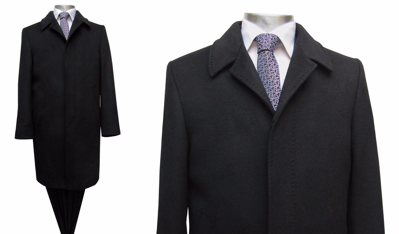 Herren Mantel lang Elegant Gr.72 Schwarz | | | Schnelle Lieferung  0a057b