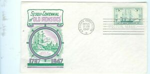 US-FDC-951-BATTLE-OF-CONSTITUTION-CANCL-OCT-21-1947-BOSTON-MASS-Addr