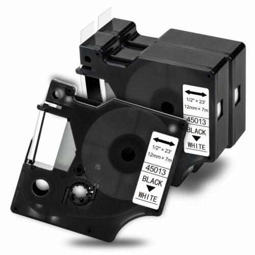 3x Kompatibel Schriftband für Dymo D1 12mm// Dymo 45013 LM160 LM210D LM450D LP300