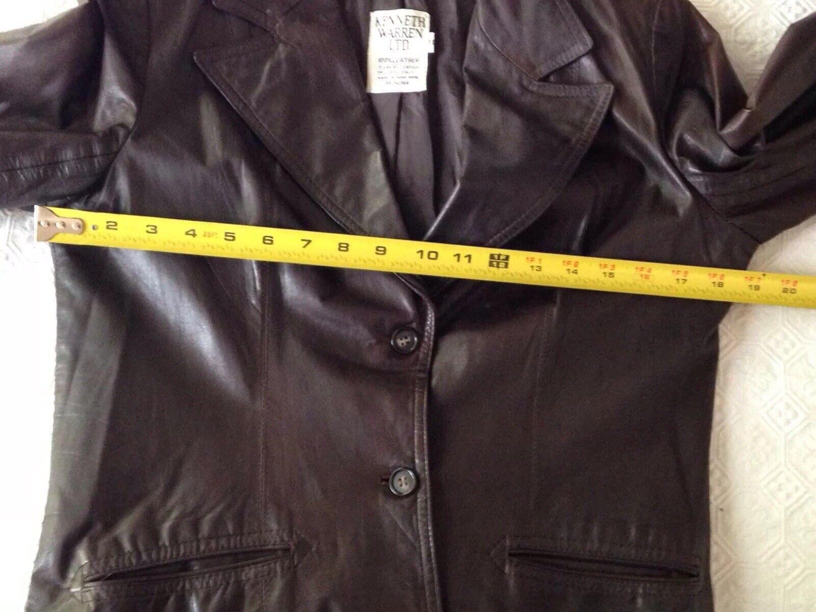 1970S Vintage Women's Dark Brown Leather Blazer J… - image 10