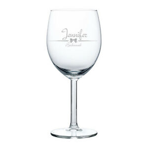 Etched Wine Glasses Wedding Gifts : ... -Engraved-Wine-Glass-Glasses-White-Red-Wine-Wedding-Bridesmaid-Gift