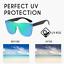 Infinity-Fashion-Colored-Sunglasses-Mirror-UV400-Polarized-Vintage-Square-Glasse miniature 1