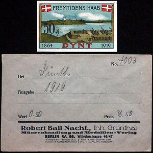DUNTH-1919-034-Howitzers-034-in-RARE-Robert-Ball-Envelope-German-Notgeld-Dynt-Denmark