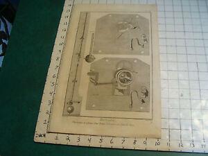 """Original engraving 1760's 10 1/2 x 16"""" THERMOMETRE ET CADRATURE DUNE PENDULE"""