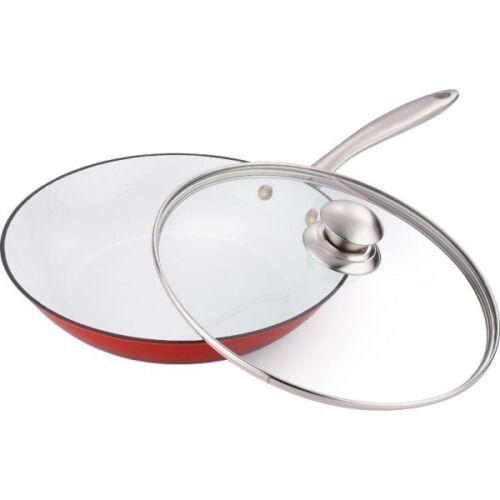 Bergner Fusion Frying Pan Wok 4.8L White//Red BG-2328
