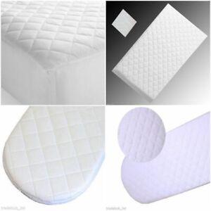 Super Soft Baby Moses Pram Basket Mattress Extra Thick Comfy Cushy 75 x 30