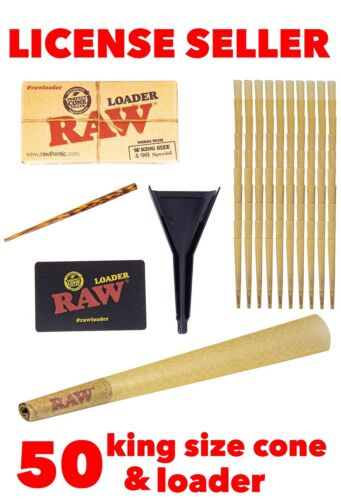 raw cone loader 50 packs RAW Classic King Size pre rolled Cones with Filter