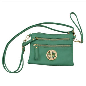 Light-Green-Crossbody-Wristlet-Shoulder-Bag-Purse
