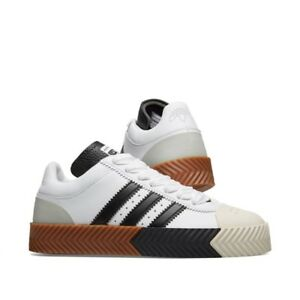 buy online 3dcbf 019cf Details about adidas Originals by ALEXANDER WANG AW Skate Super White/Black