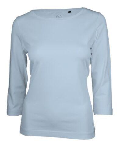 Bleu Clair Premium T 33200 Bateau Pour Boviva 3 Cou Basic 4arm Haut Femmes shirt CqnwS7O