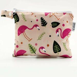 Small-Waterproof-Wet-Bag-with-Zip-19-x-16cm-Pink-Flamingo-Design